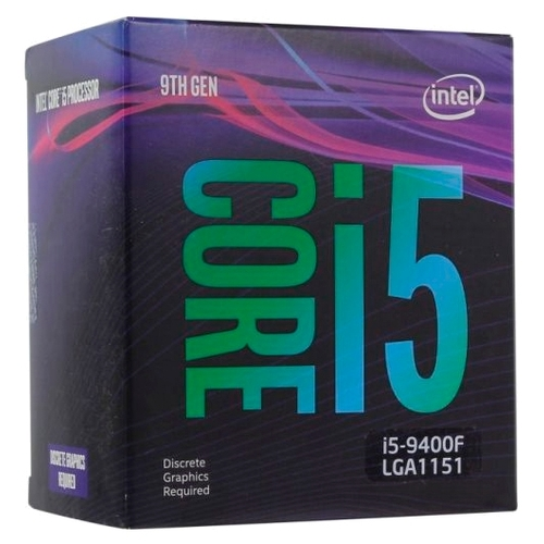 Процессор 1151v2 Intel Core i5 9400F Coffee Lake (6C/6T/2.9-4.1GHz/9Mb/noGPU/14nm/65W) OEM
